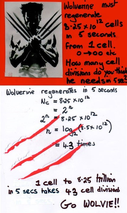 cells funny science math wolverine - 7970160896