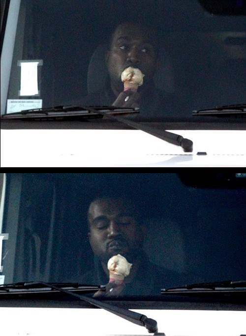kanye west ice cream treat yo self