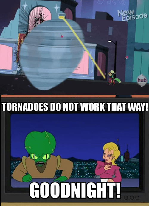 futurama,tornado,morbo,power ponies