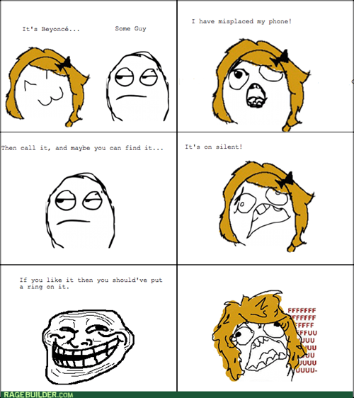 beyoncé trollface single ladies - 7970218496