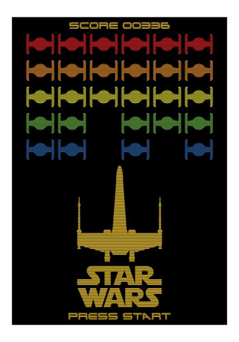 star wars,x wing,space invaders
