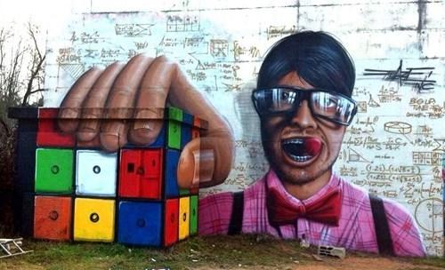graffiti,rubiks cube,hacked irl