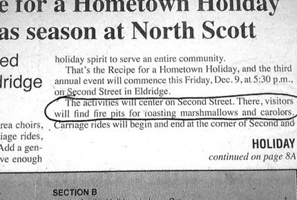 christmas newspaper typo - 7970230528