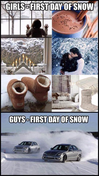 men vs women,snow,winter,g rated,dating