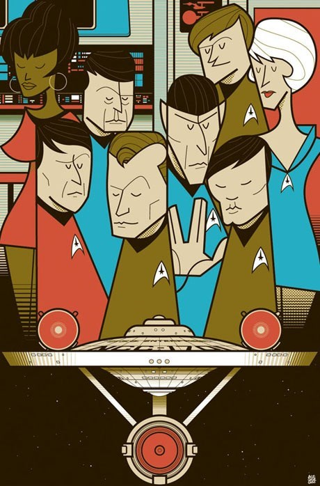 art cast poster Star Trek - 7970259456