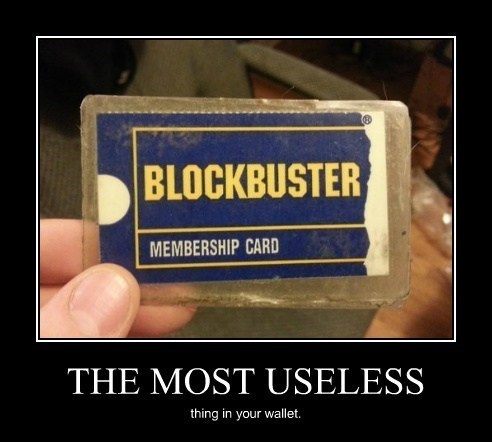blockbuster card funny wallet