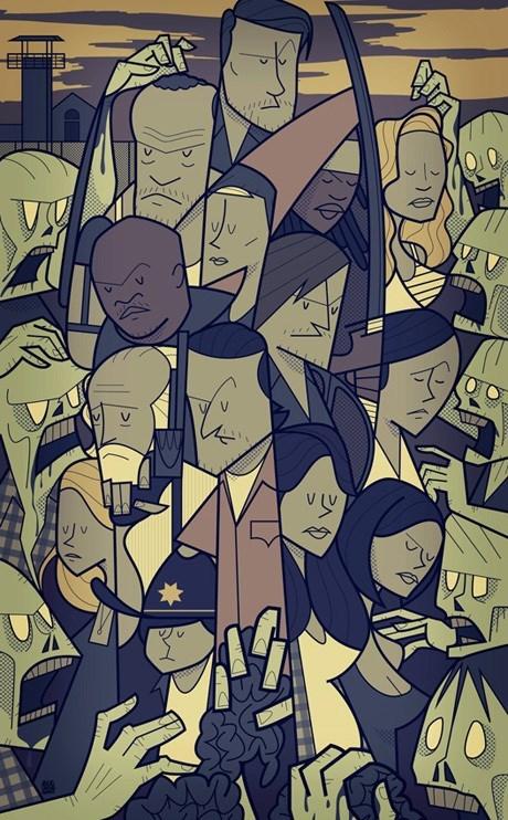 cast poster Fan Art The Walking Dead - 7970261248