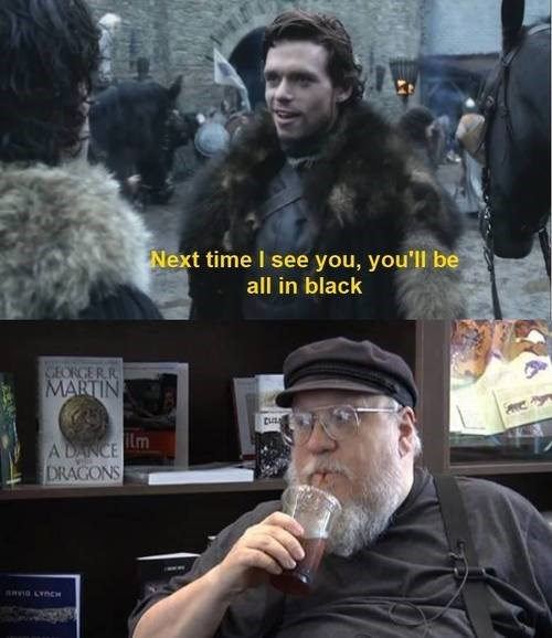 George RR Martin,Robb Stark,nights watch,red wedding