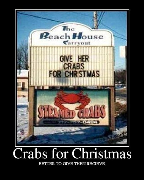 crabs gifts christmas funny wtf - 7970285568