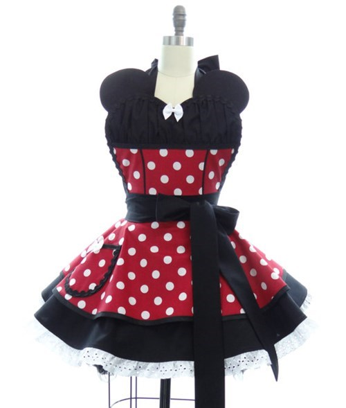 aprons,disney,for sale,etsy,minnie mouse