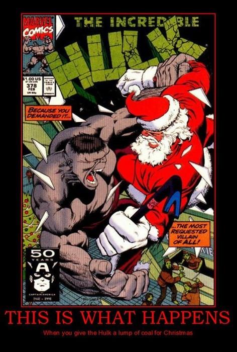 hulk christmas funny santa wtf villain - 7970306816
