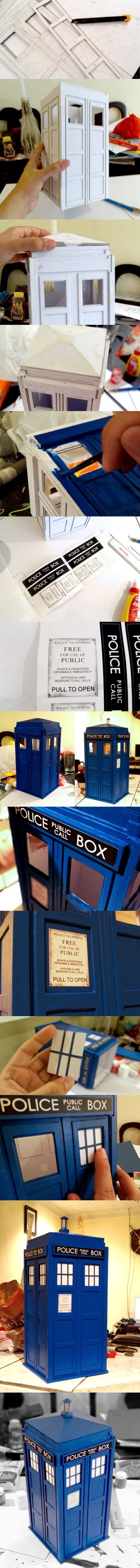 doctor who papercraft tardis - 7970308352
