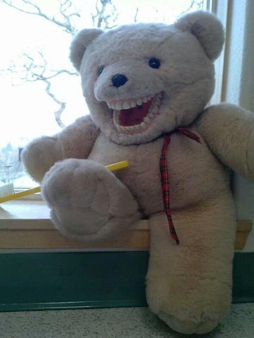 kids teddy bears parenting teeth - 7970337024