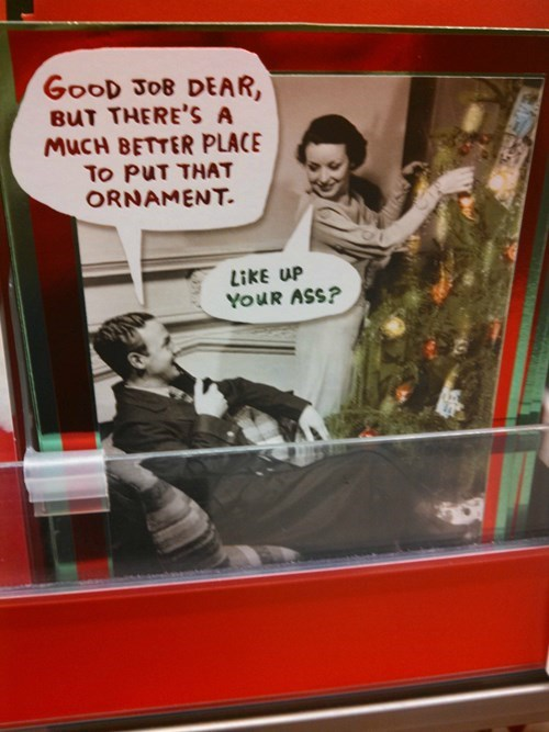 couples,christmas tree,fighting,card