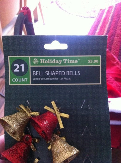 bells christmas decorations facepalm - 7970344448