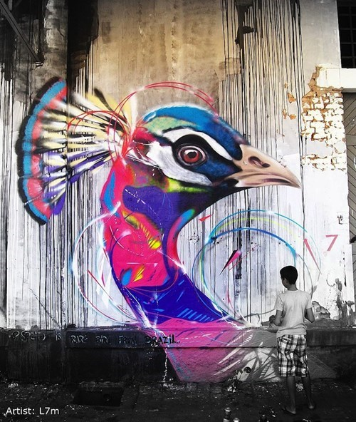 The Birdtastic Street Art of Brazil's L7m
