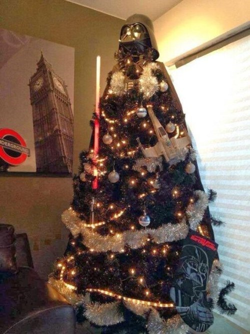 christmas,christmas tree,star wars,nerdgasm