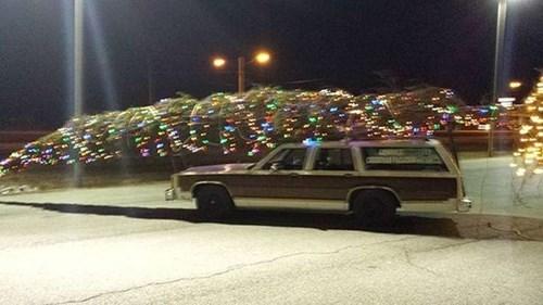 cars bad idea christmas tree dangerous