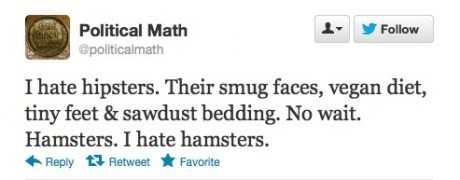 hipsters,hamsters,twitter