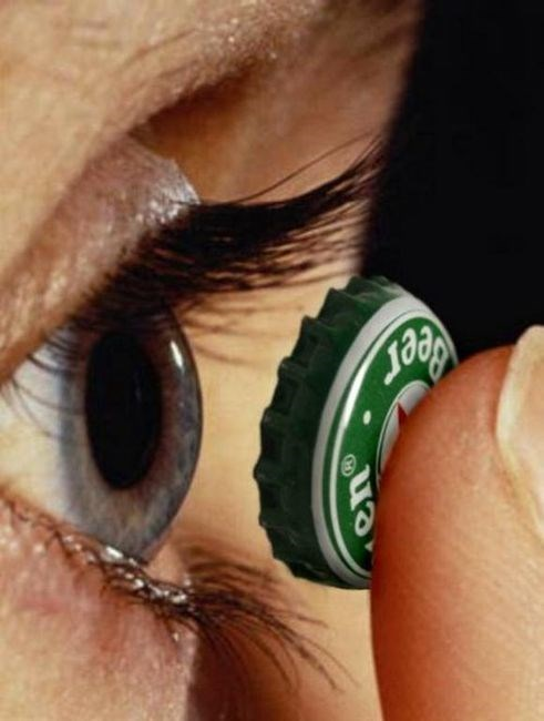 bottle caps contacts eyes funny - 7970531584