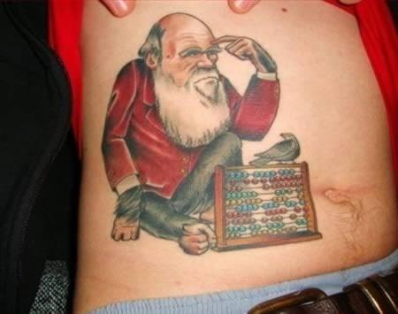 charles darwin,christmas,santa,tattoos