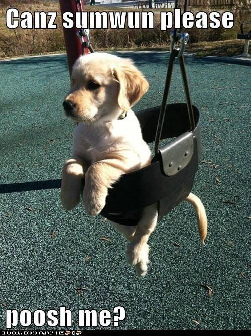 cute push swing puppy - 7971536384
