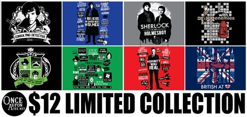 bbc,for sale,t shirts,Sherlock,once upon a tee
