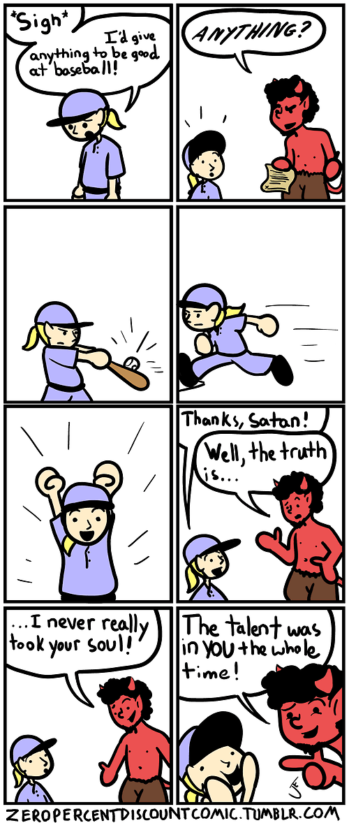 baseball,satan,web comics