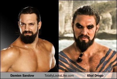damien sandow,totally looks like,Khal Drogo
