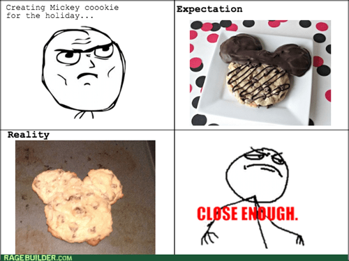 Close Enough cookies baking mickey mouse