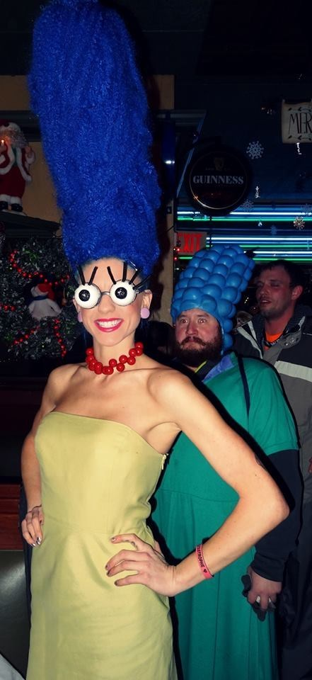 costume,marge simpson,photobomb