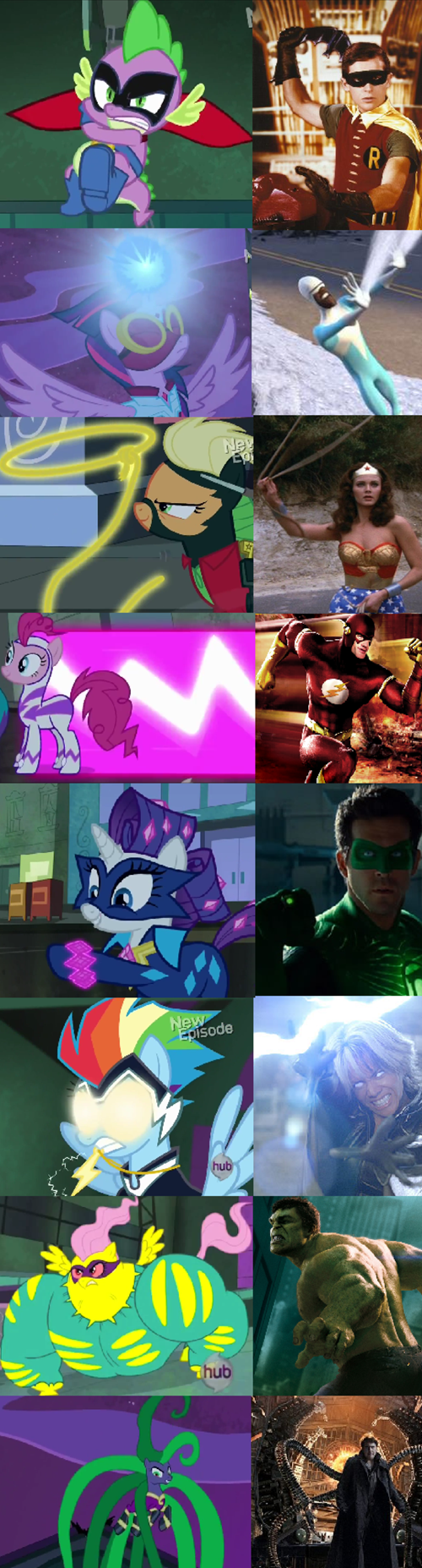 MLP,superheroes,mane 6,power ponies