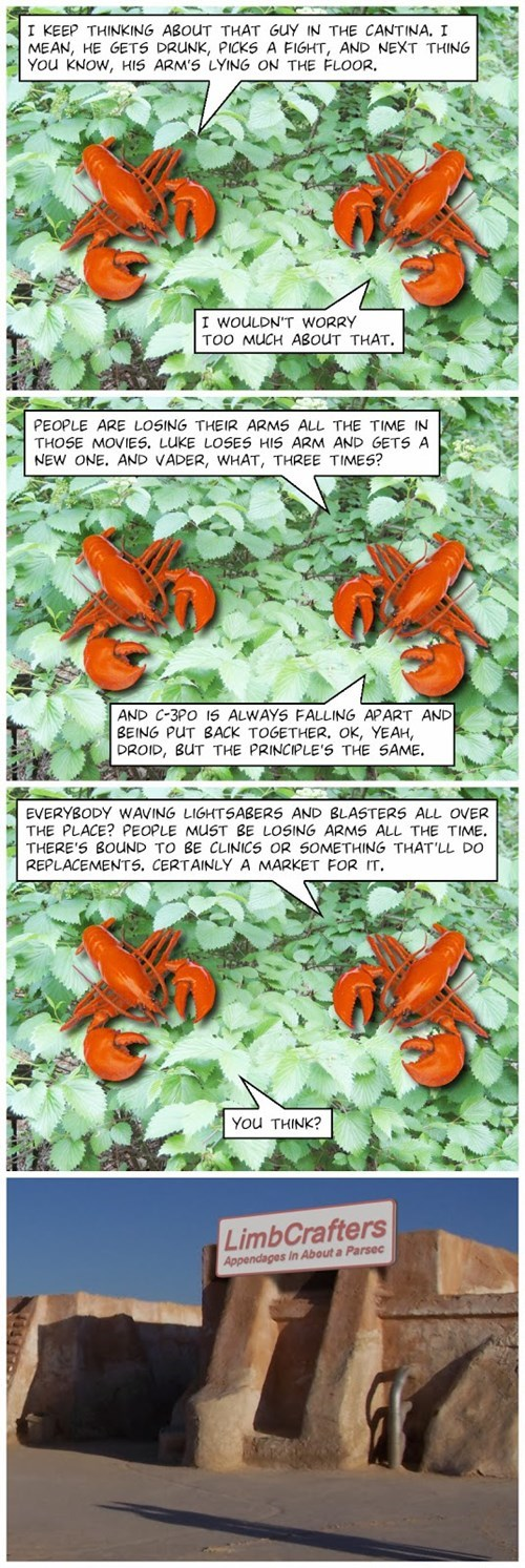 lobsters,star wars,web comics
