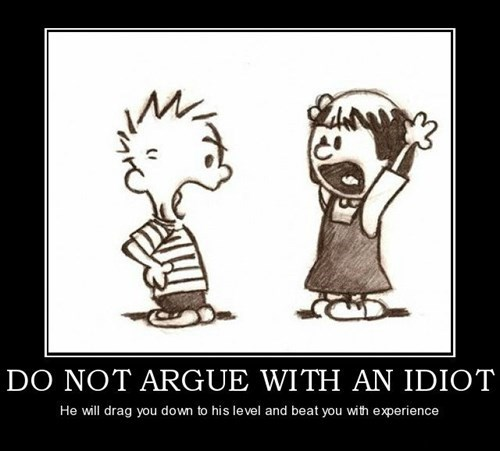 argument calvin & hobbes idiots funny calvin & hobbes - 7973067008