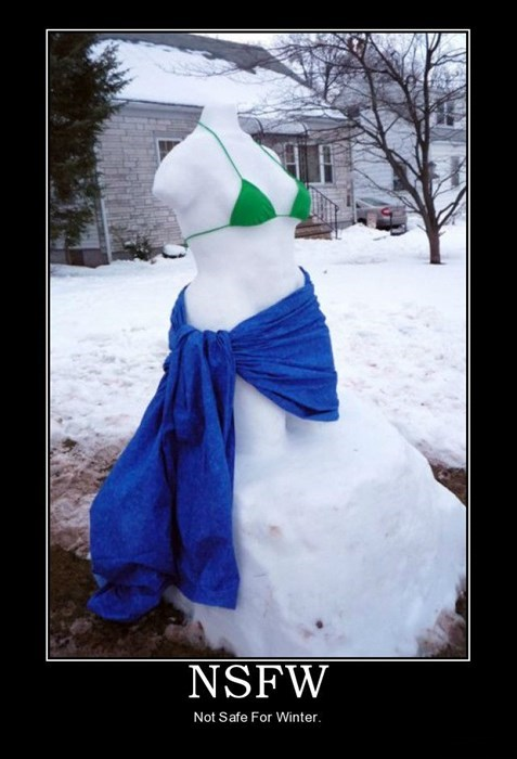 winter sexy times funny snowman - 7973079296