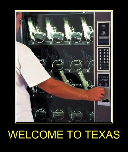guns,funny,texas,vending machine,wtf