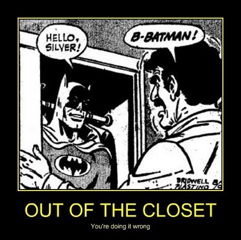 coming out batman closet funny wtf - 7973163008
