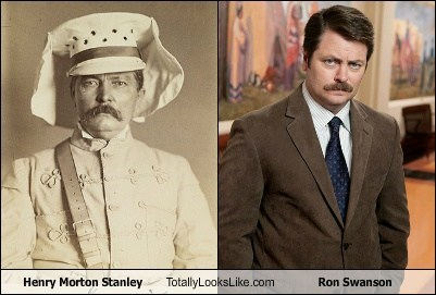 totally looks like,ron swanson,henry morton stanley