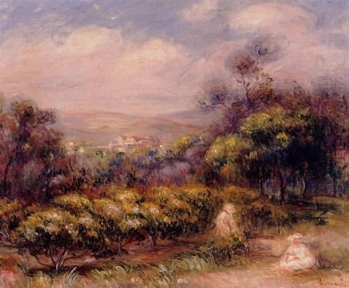 Cagnes Paysage par Renoir
