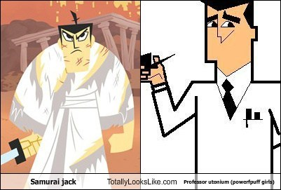 cartoons,professor utonium,samurai jack,totally looks like