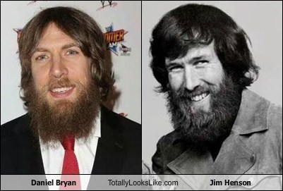 daniel bryan,jim henson,totally looks like