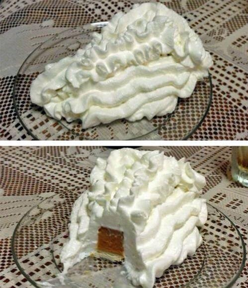 dessert pumpkin pie there I fixed it whipped cream - 7973996288