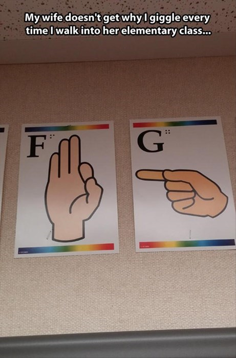 finger hole funny sign language wtf school o ffail - 7974031616
