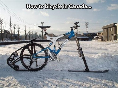 bikes bicycles Canada snow there I fixed it g rated