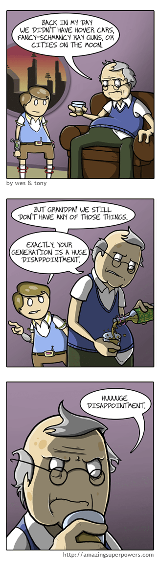 disappointment generations web comics