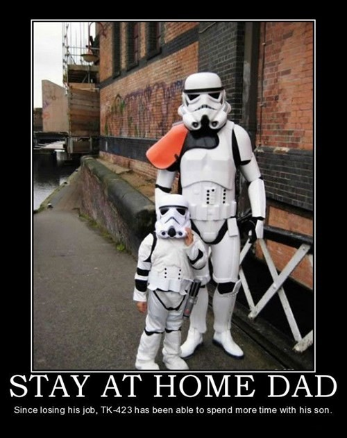 dad funny stormtrooper stay at home - 7974069760