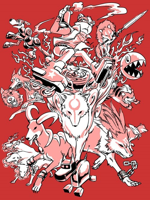 dogs gaming Fan Art - 7974071040
