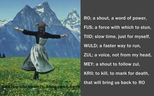 Skyrim,the sound of music