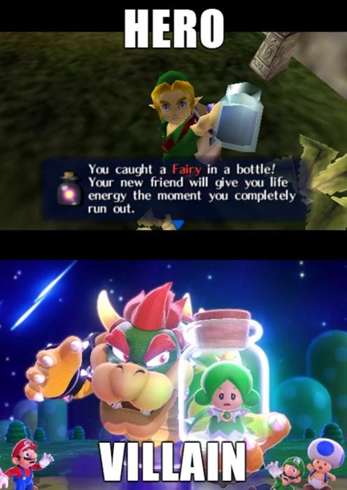nintendo link mario video games double standards zelda - 7974266624