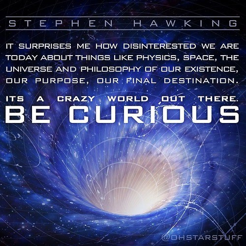 curious quote science stephen hawking - 7974273792